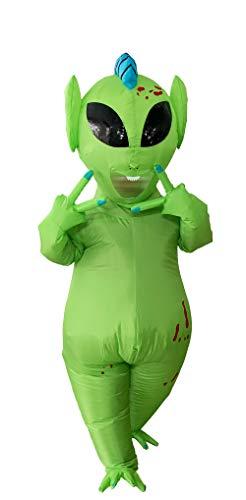 GOPRIME Halloween Alien Costume Martian (Green Large)
