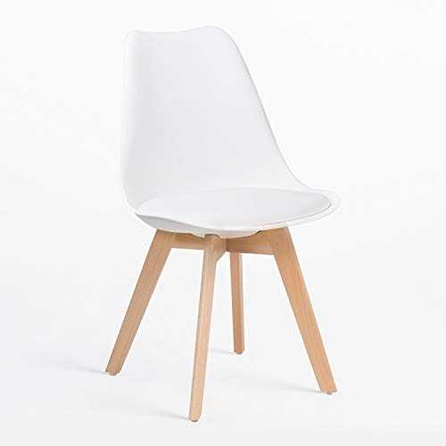 SKLUM Chaise Nordic Blanc - (Plus de Couleurs)