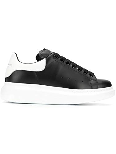 Alexander McQueen Luxury Fashion Damen 553770WHGP51070 Schwarz Leder Sneakers | Jahreszeit Permanent