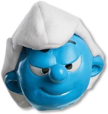 Horror-Shop Schlumpf Maske Hefty für Kinder