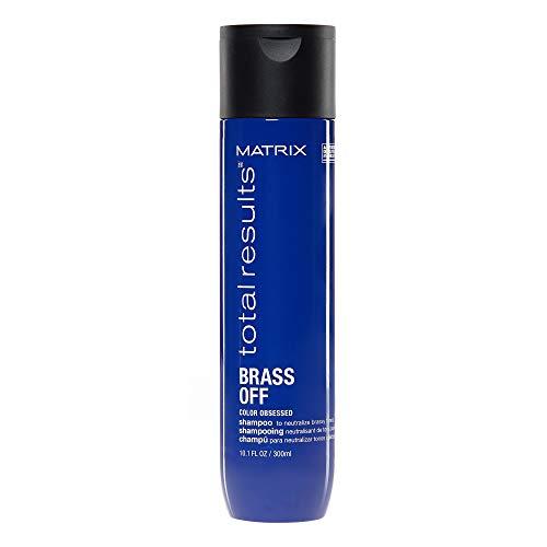 Matrix Brass Off Shampoing Neutralisant Reflets Jaunes/Orangés Non Désirés 300ml
