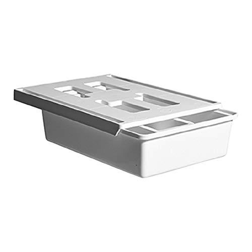 Buyfunny01 cassetto portaoggetti sotto la scrivania casa ufficio righello organizer caso cancelleria trucco contenitore portapenne portapenne vassoio asciuga studenti autoadesivo moderno (L)