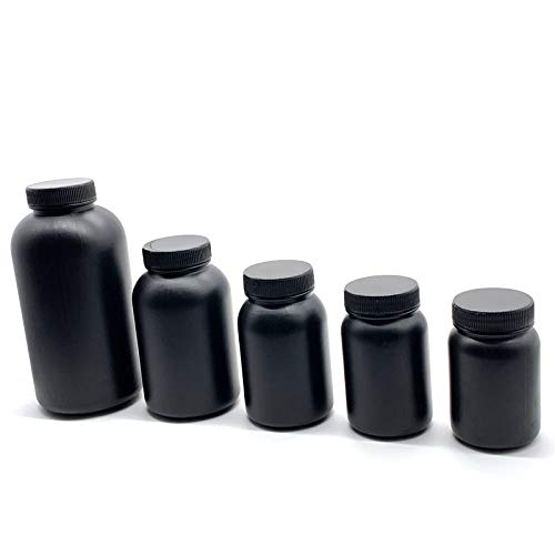 XIARUI Printer Accessories 3D Printer SLA Resin Special Empty Bottle 3D Printer Accessories UV Sensitive Resin Empty Bottle Durable parts (Color : Black, Size : 200ml)