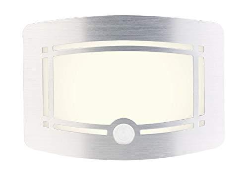 Lunartec Wandlampe mit Batterie: 2-stufige Batterie-LED-Wandleuchte, Bewegungs- & Lichtsensor, 40 lm (Licht mit Bewegungsmelder)