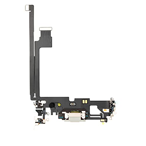 Best Shopper - Replacement Charging Charge Port Flex Cable with Microphone for Apple iPhone 12 Pro Max - Silver