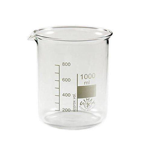 Becherglas 1000ml Bechergläser niedere Form, mit Ausguss, graduiert