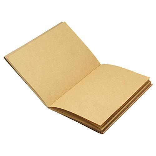 feilai Lab & Scientific Supplies Skizzenbuch, 32 K, Vintage, blanko, Kraftpapier,...