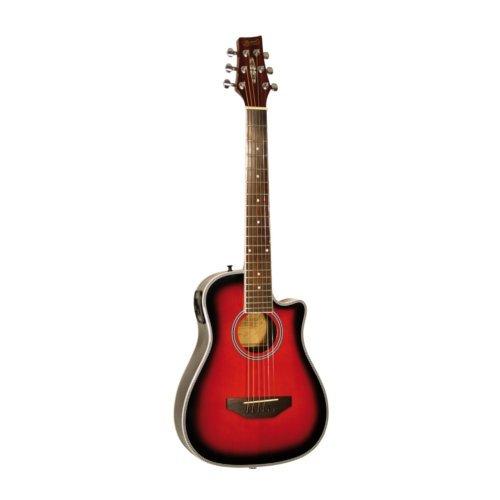 Kirkland Travel Guitar redburst Shadow VTC Preamp inkl. Gigbag
