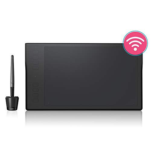 HUION Inspiroy Q11K 11Pouces Tablette Graphique sans Fil avec 8 Touches deRaccourci et 8192 Niveaux Sensibilité à la Pression-Tablette Graphique à Stylet Professionnelle Compatible avec Mac&Windows