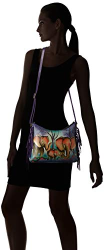 Fashion Shopping Anna by Anuschka Women's Genuine Leather Large Hobo Shoulder Bag | Hand Painted