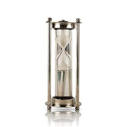 1-3 Minute Hourglass Sand Timer Water Clock With Sparkling White Sand 7 Brass Vintage Antique Style Nautical Collectors Gift Decorative Souvenir Unique Creative Gifts For Home Office Study Desk