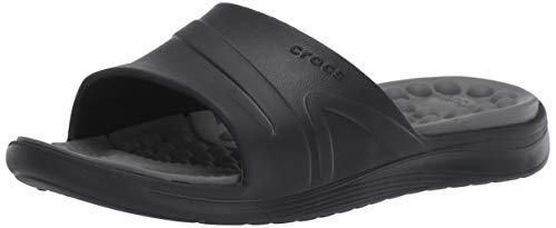 Crocs Reviva Slide U, Sandali Punta Aperta Unisex-Adulto, Nero (Black Slate Grey 0dd), 41 42 EU