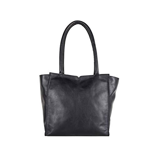 Cowboysbag dames lederen tas schoudertas bag Nixon zwart 2194