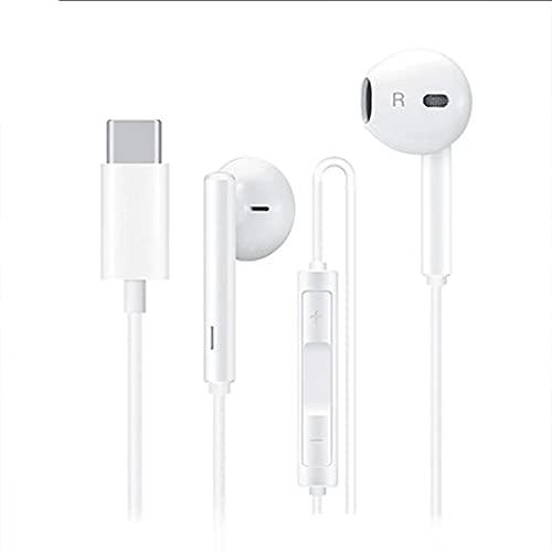Tipo C Auriculares con Cable con Micrófono Control De Volumen Estéreo USB Auriculares USB Auriculares Tipo C Cableado Digital Auriculares Auriculares Auriculares Aislantes Auriculares con Cable