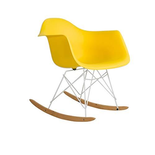 LXTX Eames Stuhl Schaukelstuhl Lounge-Sessel Wohnzimmer Schaukelstuhl Stillstuhl Designer-Stuhl,Yellow