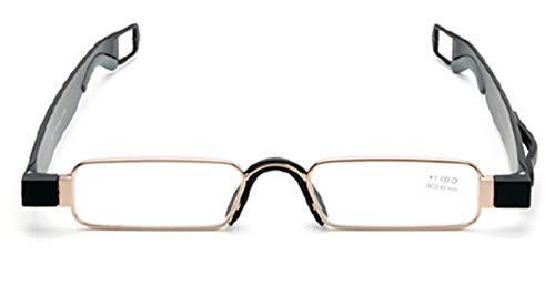 Plegables Gafas de Lectura de Bolsillo 360 rotativas Tubo Pluma Clip Plegables Gafas de Lectura Ultraligero para Hombres y Mujeres+1.0 to +3.5