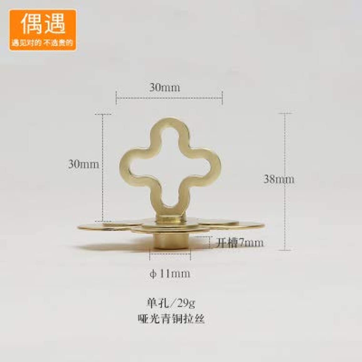 modern simple fashion gold stain nickel drawer cabinet knob pull American Retro style iron gray ORB kicthen cabinet door handle - (Color: gold)