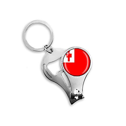 Tonga Flagge Bierflaschenöffner Nagelknipser Metall Glas Kristall Schlüsselanhänger Reise Souvenir Geschenk Schlüsselanhänger Zubehör