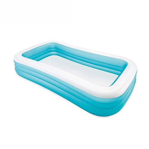 TXOZ Piscina Inflable Rectangular Familiar Actividades Piscina for niños Jardín Piscina portátil de Viaje Bañera Planta Resistente al Desgaste Grueso Marina Ball Pool Azul