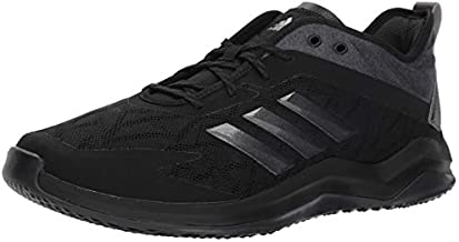 adidas Men's Speed Trainer 4 Baseball Shoe, Black/Night Metallic/Carbon, 9.5 M US
