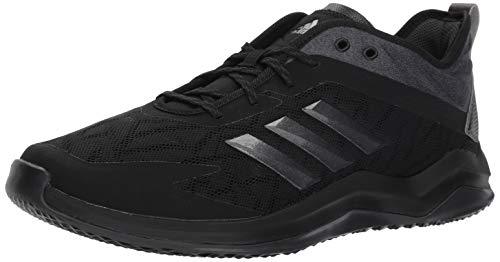 adidas Men's Speed Trainer 4 Baseball Shoe, Black/Night Metallic/Carbon, 11 M US
