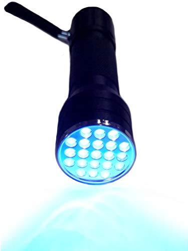 UV Taschenlampe Schwarzlicht Mobiler Geldscheinprüfer UV 21 LED Taschenlampe UV Lampe