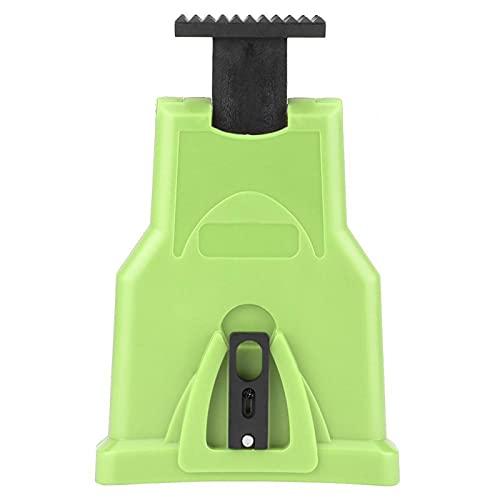 FOLOSAFENAR Herramienta para pulir Cadenas Afilador de Cadenas Eléctrico Durable y práctico, para Ahorrar Tiempo y Esfuerzo(Green)