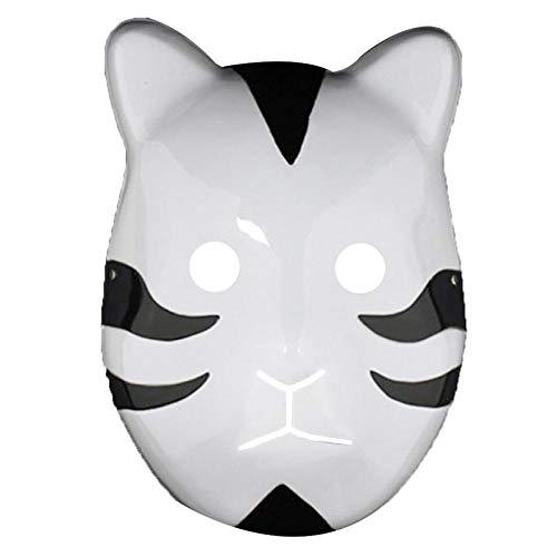 WATCBQ Halloween Maske Kakashi Anbu Ninja Style Maske Kostüm Cosplay Zubehör Kostüm Halloween Anime Manga-Bk
