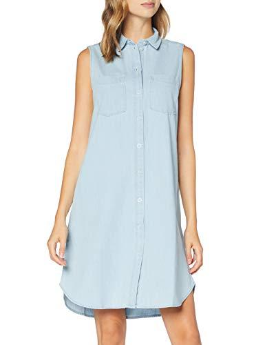 edc by Esprit Damen Esprit Kleid, Blau (Blue Bleached 904), L