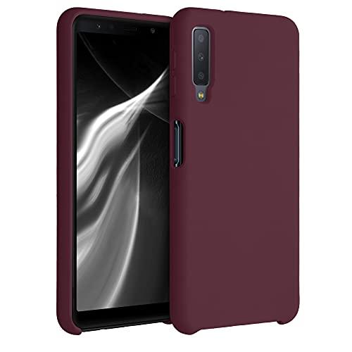 kwmobile Hülle kompatibel mit Samsung Galaxy A7 (2018) - Hülle Silikon gummiert - Handyhülle - Handy Hülle in Tawny Red