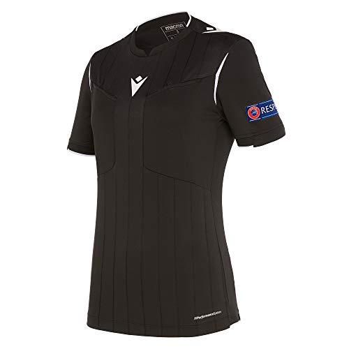 Macron Fußball 1/2-Shirt UEFA Referee 19 Schiedsrichter Trikot Damen schwarz Gr L