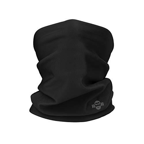Heldenheim Schlauchschal schwarz für Damen/Herren   Multifunktionstuch   verwendbar als Stirnband, Kopfbedeckung u.v.m   Atmungsaktiv & Elastisch