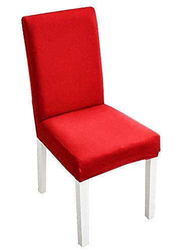 2 stretch stoelhoezen met rugleuning - elastisch - wasbaar - keuken - beschermend - thuis - eetkamer - 2 eenheden - meubels - rood - origineel geschenkidee