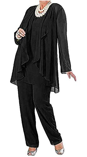 Botong Women's 3 Pc Pants Suit Dress Suit For Mother Of The Bride Evening Gowns