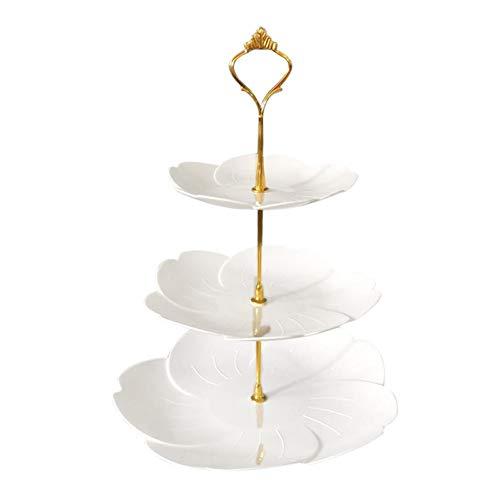 soundwinds Soporte para Tartas de 3 Pisos Multi-Layer Fruit Plate Party Serving Platter Soporte de exhibición para cumpleaños Weeding Party Home Silver u Gold