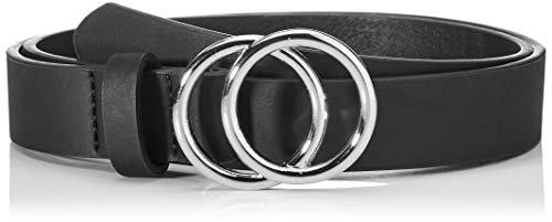 Only Onlrasmi PU Jeans Belt Noos Cinturón, Black/Detail: Black/Silver Buckle, 80 para Mujer