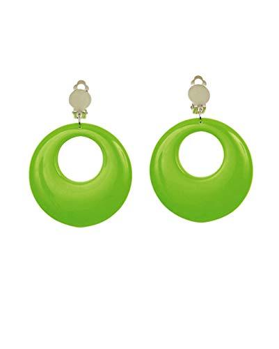 Horror-Shop 80er Jahre Neon-Ohrringe Grün