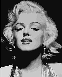 Malen Nach Zahlen Berühmte Marilyn Monroe Portrait Malen Nach Zahlen DIY Digital Leinwand Malerei Home Decor Wandkunst Im Schlafzimmer 40X50Cm Geschenk