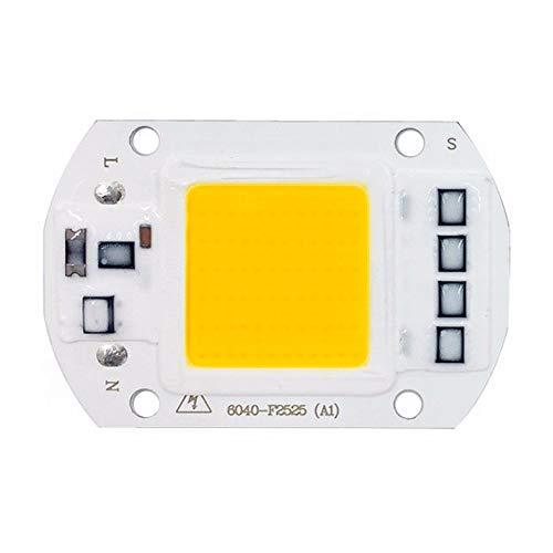 50W rectángulo LED Chip COB, entrada de 220V AC, lámpara de controlador IC inteligente integrada, para proyector de bricolaje reflector, blanco cálido