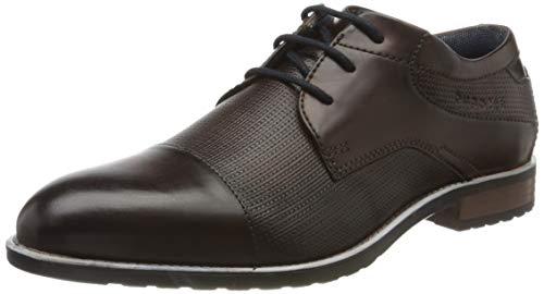 bugatti 312842023500, Zapatos de Cordones Derby Hombre, Marrón (Brown 6000), 46 EU