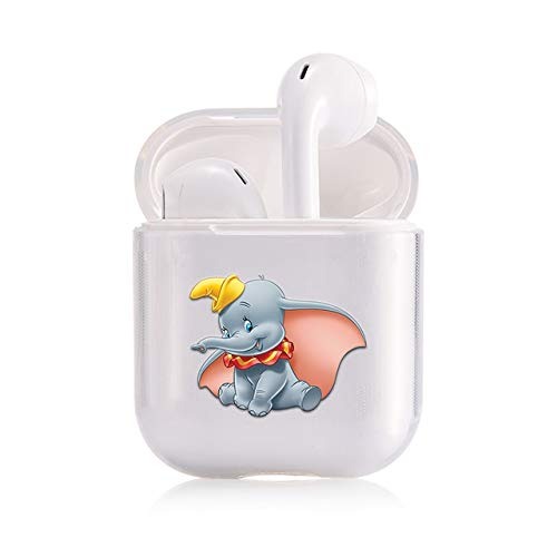 LALAPOPO Cute Dumbo Little Elephant Case for Funda Airpods Lovely Cartoon Image Design Apple Funda Airpods 2 1 Bluetooth Earphone Case Cover I203414