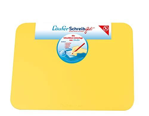 Läufer 30914 SchreibGut Schreibtischunterlage zum Schreiben lernen, für den perfekten Schulanfang, verschiedene Farben, 33,5 x 45 cm, gelb