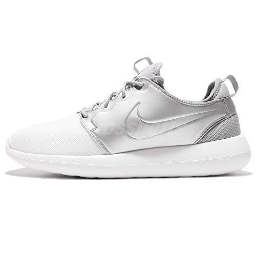 Nike Roshe Two, Entrenadores Hombre, Blanco (White/White/Metallic Silver), 40.5 EU