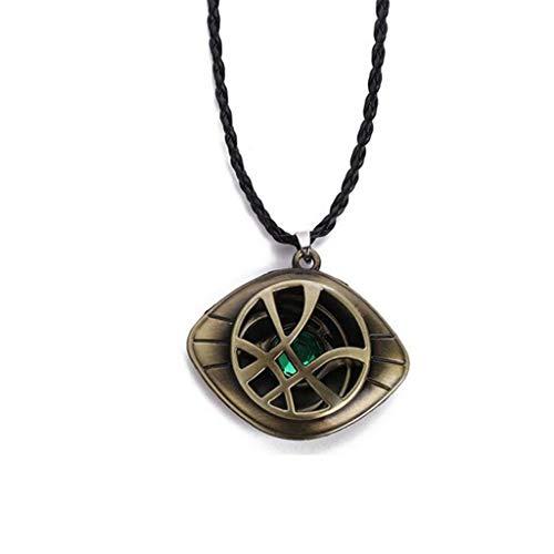 Baoshihua The Eye of Agamotto Collar Colgante Doctor Strange Collar Joyera para Disfraz Fiesta Prop