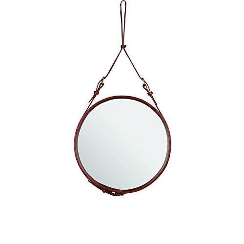 Gubi - Adnet Spiegel Circulaire - braun - Ø 58 cm - Jacques Adnet