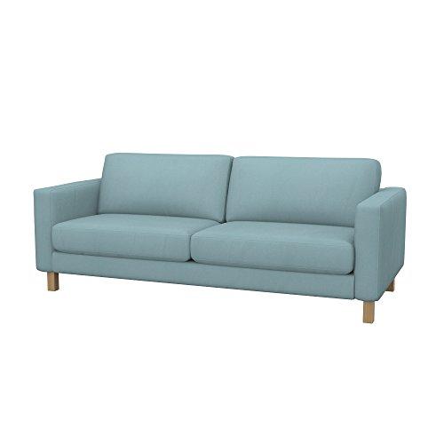 Soferia - IKEA KARLSTAD Funda para sofá de 3 plazas, Eco Leather Mint