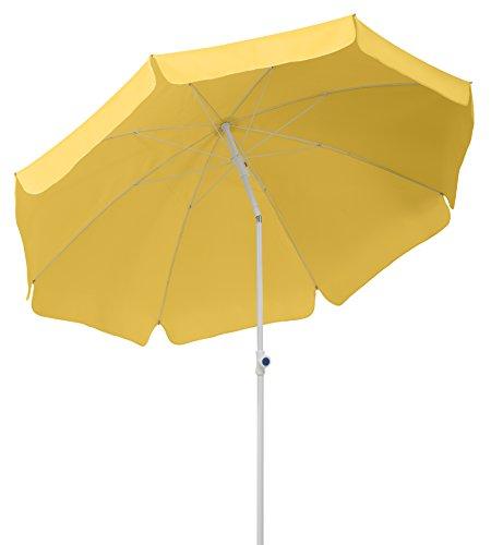 Schneider Sonnenschirm Ibiza, goldgelb, 200 cm rund, Gestell Stahl, Bespannung Polyester, 2.1 kg