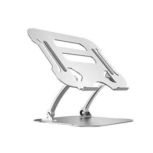 YING 11-17 Pulgadas Escritorio Plegable ángulo Ajustable aleación de Aluminio portátil no resbalón portátil Soporte para Oficina-Blanco