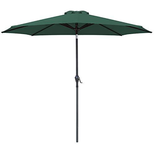 Fiberglass Rib Push Button Tilt and Carry Bag Blue//White KITADIN 6.5ft Beach Umbrella Portable Outdoor Patio Sun Shelter with Sand Anchor
