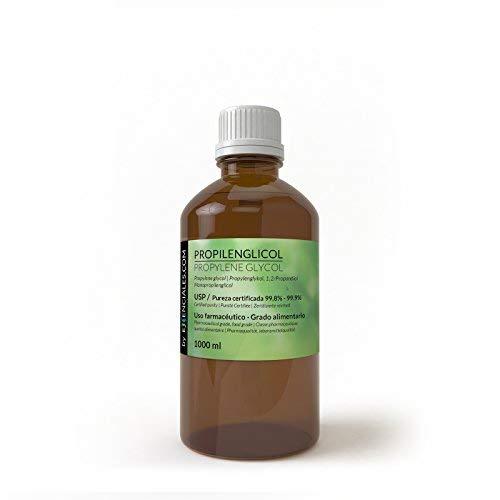 Essenciales - Propilenglicol USP - Pureza Certificada - 1 Litro - PG Base   Uso Farmacéutico - Grado Alimentario - Vapeo
